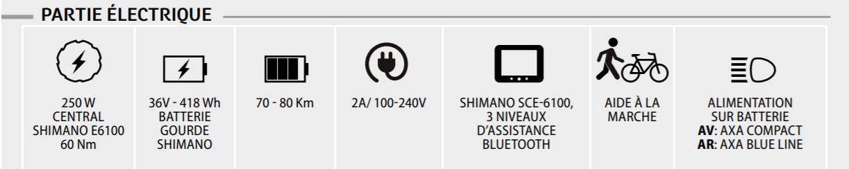 velo electrique neomouv montana S 2020- caracteristiques electriques