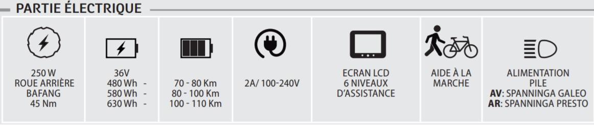 velo electrique neomouv linaria - caracteristiques electriques