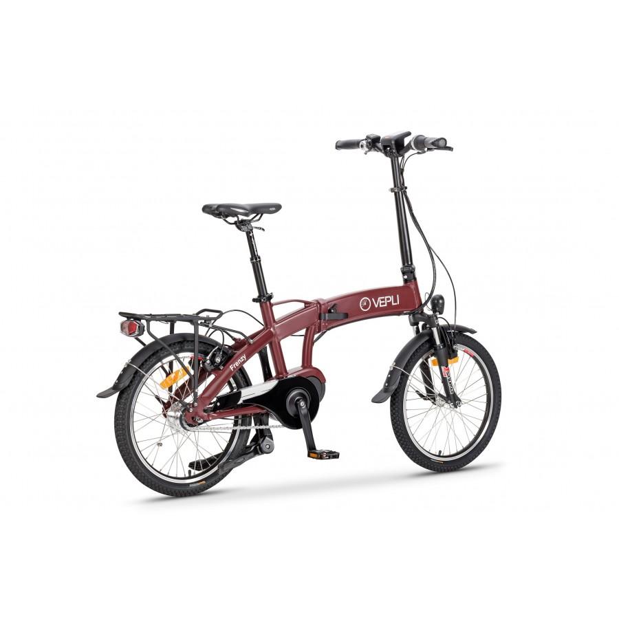 Exemple de Vélo électrique pliant avec moteur pédalier